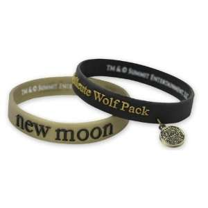 New Moon Rubber Bracelet Set Quileute Wolf Pack with