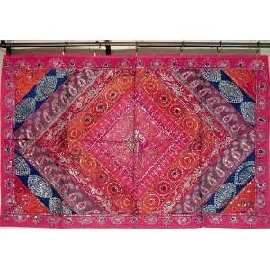 Hot Pink Indian Large Tapestry Wall Room Decor Hanging