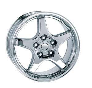 17 9.5 & 11 True ZR1 Corvette Wheel Rim Chrome