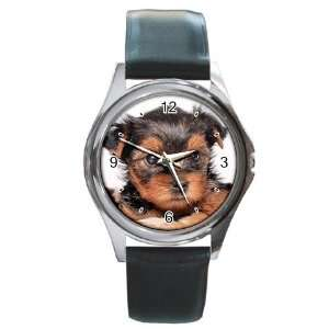 Yorkshire Terrier Puppy Dog 8 Round Leather Watch CC0655