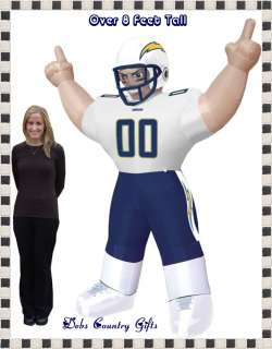 San Diego Chargers NFL Large 8 Ft Inflatable Football Player