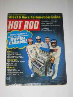 Hot Rod Magazine February 1972 Street Vega V8 Kit