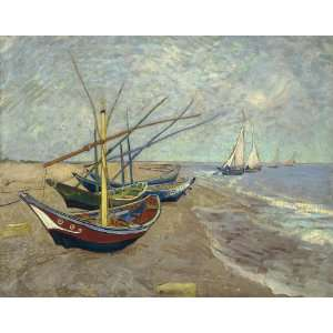 Van Gogh Boats Wooden Jigsaw Puzzle Toys & Games