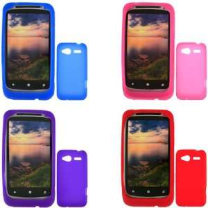 iFase Brand HTC Bresson Combo Solid Blue + Solid Red