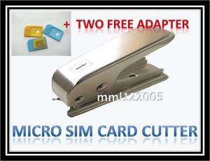 Micro Sim Card Cutter iPad 3G iPhone 4 4G + 2x Adapter