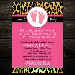 20 Mod Leopard Print Baby Shower Birthday Invitations