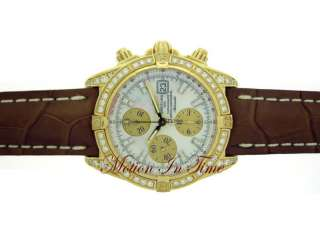 BREITLING CHRONOMAT EVOLUTION YELLOW GOLD DIAMOND  RARE
