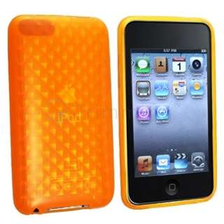 TPU Hard Gel Crystal Case for iPod Touch 3 3rd 2G 3G 2 Green Orange