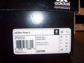 Adidas adiZero Rose 2 WINDY CITY L Train Red Black Blue 11.5 Chicago