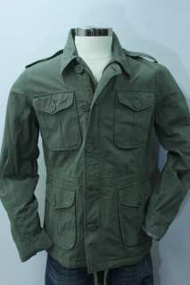 NWT LUCKY BRAND MILITARY STYLE MENS FIELD DRAWSTRING JACKET BLAZER L