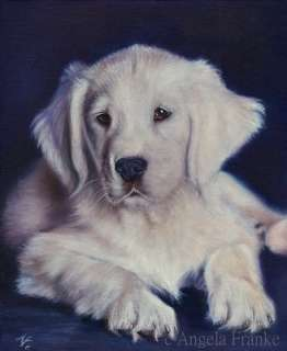 Original Oil painting Golden Retriever Labrador Dog Hund Ölgemälde