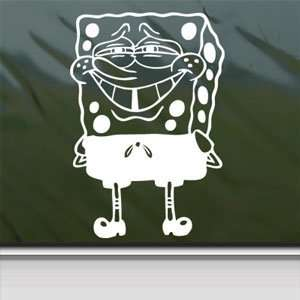 Squarepants Car Vinyl Window Laptop White Decal Arts, Crafts & Sewing