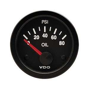 VDO 350106 Vision Style Electrical Oil Pressure Gauge 2 1/16 Diameter