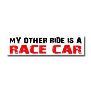 Other Ride is Race Car   Window Bumper Sticker Automotive