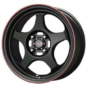 Drag D23 Black Red Stripe Wheel (15x6.5/4x100mm