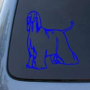 AFGHAN   Dog   Vinyl Car Decal Sticker #1481  Vinyl Color Blue