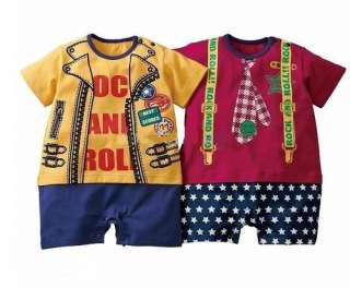 Baby Boy Girl Sleepsuit Fancy Dress Outfit Funky Clothes Romper 0 3 3