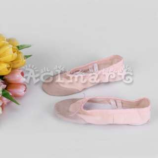 Kids Girls Pink Canvas Dance Dancing Ballet Shoes Anti slip SLIPPERS