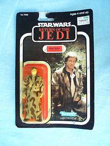 STAR WARS ROTJ 1984 KENNER HAN SOLO IN TRENCH COAT CARDED