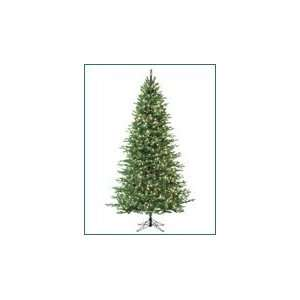 Slim Cascade Fir Pre Lit Artificial Christmas Tree Multi color Lights