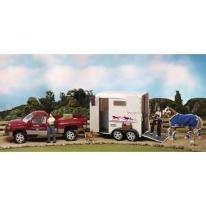 Breyer Traditional Red Truck and White Trailer Toys & Games