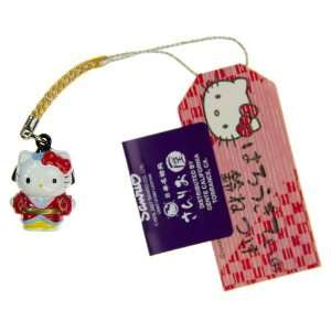 Hello Kitty in Edo Period Costume Mini Figure Bell Charm