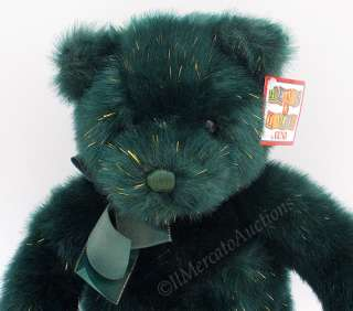 GUND Heads & Tales Plush Green Gold Sparkle TEDDY BEAR Stuffed Holiday