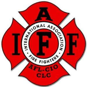 Firefighting IAFF Fire Fighters sticker decal 4 x 5