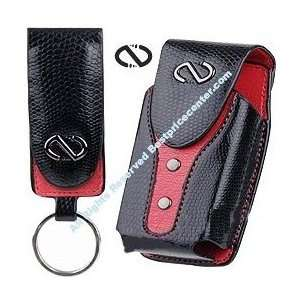Black Red BOA Leather Case for Boost Mobile I450