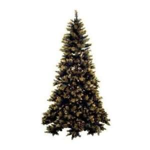 8.5 Pre Lit Black & Gold Artificial Christmas Tree