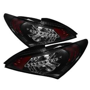 2010 2011 2012 Hyundai Genesis 2Dr LED Tail Lights   Black Automotive