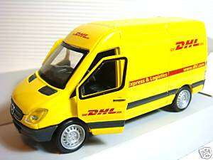 NEW DICKIE DHL MERCEDES BENZ SPRINTER VAN DIECAST CAR PULLBACK TOY CAR