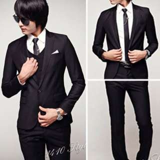 New Mens Fashion Stylish Slim Fit One Button Suit XZ02