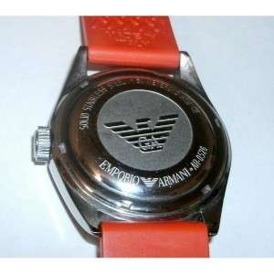 Emporio Armani Watch, Mens Orange Strap   AR0526