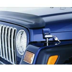 7691 97 06 Jeep Wrangler TJ Black Locking Hood Catch Kit Automotive