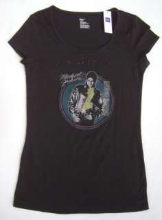 GAP WOMENS BLACK MICHAEL JACKSON T SHIRT S XXL NWT
