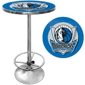 Dallas Mavericks NBA Chrome Pub Table   Game Room Products Pub Table
