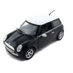 2001 Mini Cooper R50 Diecast Car Model 1/18 Black Die Cast Car