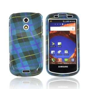 For Samsung Epic 4G Hard Case Cover BLUE PURPLE PLAID Electronics