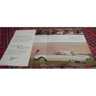 1961 Ford THUNDERBIRD Car Sales Brochure *VGC*