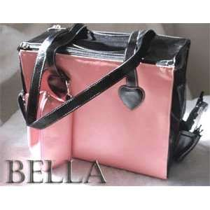 Krisybelle Bella Pink Leather Pet Carrier