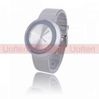 Fashion Mens Round Stainless Steel Three hand Wrist Watch