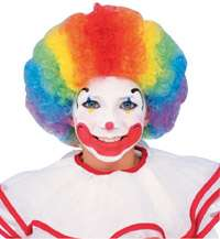 Multi Color Clown Costume Wig   Clown Costume Accessori