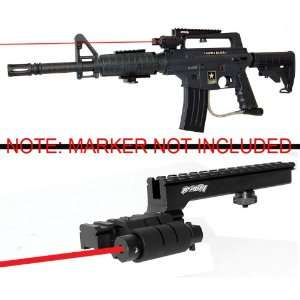 Trinity Aluminum Z Rail and Red Laser Kit for Us Army Alpha Black