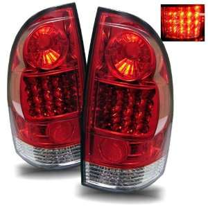 05 08 Toyota Tacoma Red/Clear LED Tail Lights Automotive