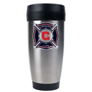 Chicago Fire MLS 16oz Stainless Steel Travel Tumbler   Primary Team