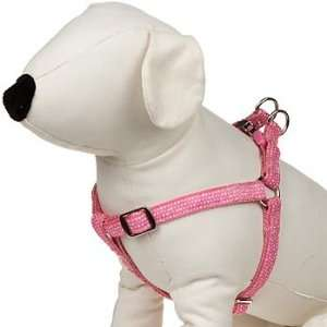 Easy Step In Pink & White Dotted Dog Harness Pet