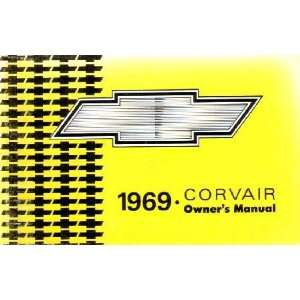 1969 CHEVROLET CORVAIR Owners Manual User Guide