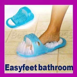 Easy Feet Foot Scrubber Brush Massager Clean Bathroom
