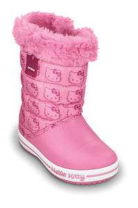 Crocs Boots Hello Kitty Gust Kids Winter Snow Boot Pink Shoe Sizes UK